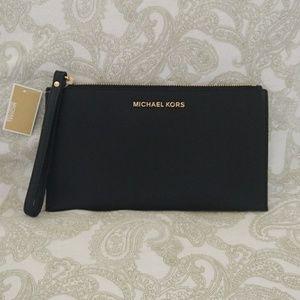 Michael Kors Large Zip Clutch Wristlet NWT